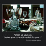 Picture of the Week #29 : clean up your act, before your competitors do it for you…