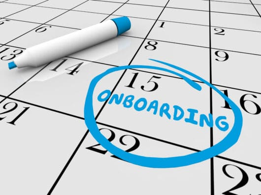 When does an employee's onboarding begin and end?